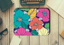 Mouse Pad with Flowers Easy Glide Non Slip Tough Neoprene Great Gift Ideas
