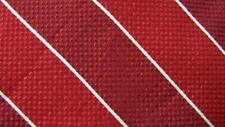 BROOKS BROTHERS RED WHITE STRIPE ITALY SILK NECKTIE TIE MJL2419B #Y10