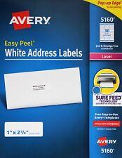 Avery 5160 Easy Peel White Address Labels Laser Printers Pop Up Edge 1 X 2 58