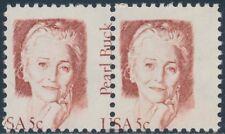 """#1848 Var. """"Pearl Buck"""" Pair With (1) Missing """"Pearl Buck"""" Error Bs7905"""