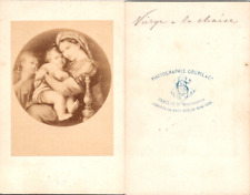 Goupil & Cie, Paris, Tableau Vierge à la chaise Vintage CDV albumen carte de vis