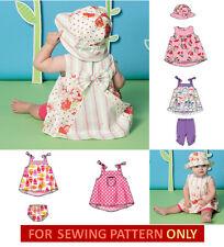 SEWING PATTERN! MAKE BABY GIRL DRESS~LEGGINGS~HAT~PANTIES! NEWBORN~XLARGE~SUMMER