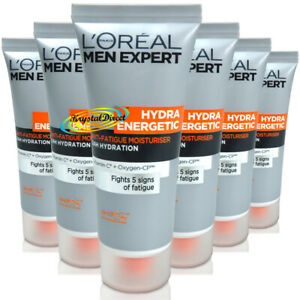 6x Loreal Men Expert Travel Size Hydra Energetic Anti Fatigue Moisturiser - 20ml