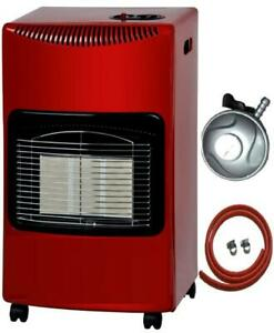 NEW 4.2KW PORTABLE FIRE CALOR GAS HEATER LPG CABINET BUTANE+ FREE REGULATOR HOSE