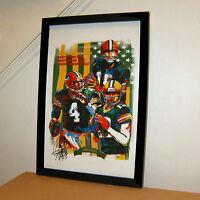 Green Bay Packers Starr Favre Rodgers NFL Sports Poster Print Wall Art 11x17