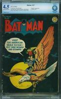 Batman #17 CBCS 4.5 DC 1943 Penquin! Justice League! Superman! like CGC! E9 1 cm