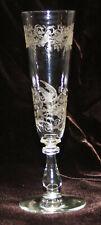 altes Sektglas (Kristallglas?) in sehr guter Erhaltung, Höhe 17,5cm