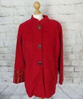 "BNWT Stunning Bob Mackie jacket coat red sequins boho folk L 16 bust 44"""