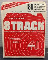 Realistic 80 Minute Blank #44-841A 8 Track Tape Cartridge