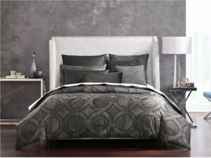 Hotel Collection Marble Geo Euro Pillow Sham Black Velvet