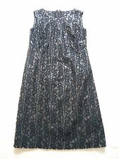 John Rocha NEW black PVC/lace sleeveless designer dress Made in Ireland UK 10