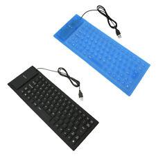 Keyboard Rubber Flexible Silicone USB Roll Up Folding Waterproof Silent Key U5