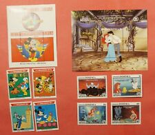 2 Disney Sets + S/S Dominica + Maldives Mint Never Hinged