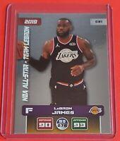 LeBRON JAMES ADRENALYN XL TRADING CARD - NBA 2019/20 EUROPEAN VERSION STICKERS