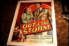 OUT OF THE STORM ORIG MOVIE POSTER 1948 LINEN CRIME JAMES LYDON LOIS COLLIER