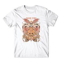Dark Fire T-Shirt. Skull Skeleton Shirt 100% Cotton Premium Graphic Tee New