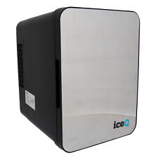 iceQ Portable Small Mini Fridge Drinks Cooler - Stainless Steel/Black