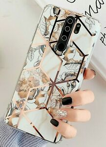 MOBILE PHONE CASE/COVER REDMI NOTE 9S/9 PRO/9 PRO MAX GOLD FLOWERS/LEAVES TPU