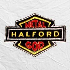 Judas Priest Halford Metal God Logo Embroidered Patch Rob Ian Hill Glenn Tipton