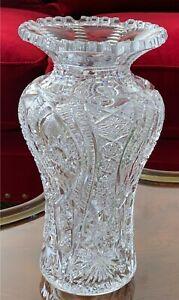 Exquisite American Brilliant Period Cut Glass Vase