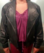 ~!Women's Wilson Leather Motorcycle Black Thinsulate Lining Jacket.Size Medium,M