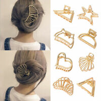 Women Hair Claw Clips Crab Clips Metal Geometric Hair Clips Hairpin Accessories