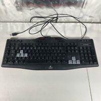 Logitech G105 Red / Black Backlit Gaming Keyboard Wired USB-Tested