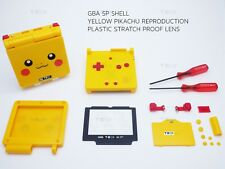 Nintendo Pikachu Shell Game Boy Advance SP Replacement Housing GBA case tools