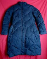 The North Face Women M Long Black 550 Down Jacket Missing Hood
