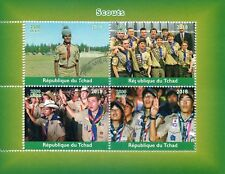 Chad 2018 CTO Boy Scouts 4v M/S Scouting Stamps