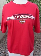 Harley-Davidson Authentic Size M Red 100% Cotton Short Sleeve T-Shirt