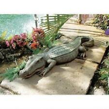 CROCODILE STATUE ALLIGATOR GATOR REALISTIC FLORIDA SWAMP LAWN YARD POOL ART