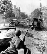 6x4 Photo ww419 Normandy Eng Chan Avranches Epaves Vehicle s Convoy Allemand