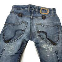 RA-ER RAG RECYCLE Men's Jeans 'Survival' Sz 30/31 Distressed Destroyed