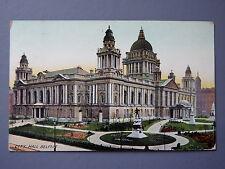 R&L Postcard:  City Hall Belfast, 1908, B&D Kromo