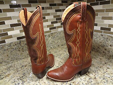 DAN POST BOOTS WOMEN SIZE 5 C WIDE WESTERN COWGIRL BROWN SPAIN LEATHER