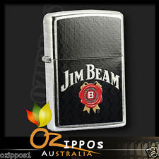 Zippo Lighter Jim Beam Bourbon Street Chrome 28420--- Free Shipping in Australia