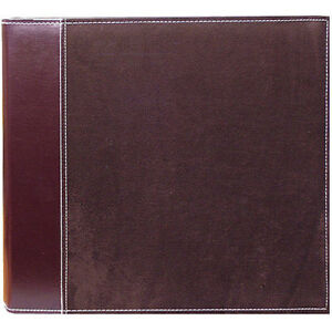 Pioneer TM-12 Large 12x12 3-Ring Binder Brown Faux Suede (Same Shipping Any Qty)