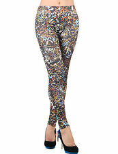 New Womens Denim Look Slim Leggings Jeans Jeggings Stretchy Skinny Trouser Pants