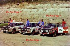 Alen & Salonen & Valtaharju Datsun 160J 1000 Lakes Rally 1975 Photograph 1