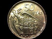 50 pesetas 1957 estrella 59 (A4)