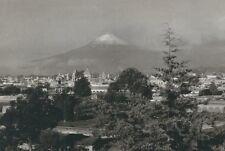 CD-197 Mexico, Del Popo Visto Desde Puebla, Volcano Real Photo Postcard RPPC