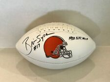 Brian Sipe Signed Cleveland Browns White panel Football COA/Holo 1980 NFL MVP