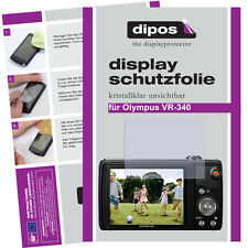 2x Olympus VR-340 Schutzfolie klar Displayschutzfolie Folie unsichtbar Passgenau