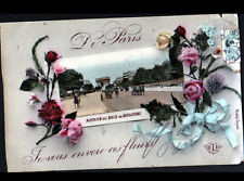 PARIS XVI° / ATTELAGE au BOIS DE BOULOGNE en 1907