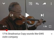 4/4 Stradivarius 1716 Copy Antique Style with FREE case&Tonica strings See Video
