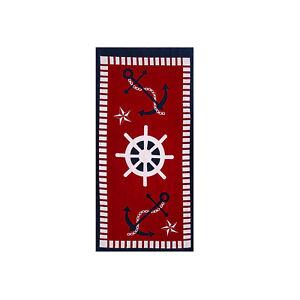 Nautical Premium Compass Beach Towel, 100% Cotton Soft Turkish Bath Towel
