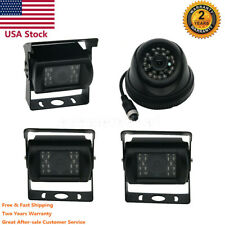 4CH Car Mobile DVR Recorder with 4 IR Light Vision Camera +7 Inch LCD Screen Set