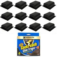 16 PACK COCKROACH STICKY GLUE TRAPS Bug Insect Pest Control Tray Disposable Lot
