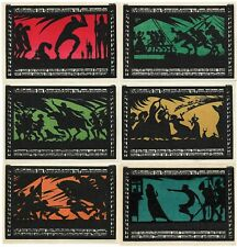 *1921 Frankenhausen Germany- Bold Battle ~ Complete Unc Set Notgeld Banknote